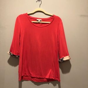 Burberry Brit Coral 3/4 sleeve XL blouse